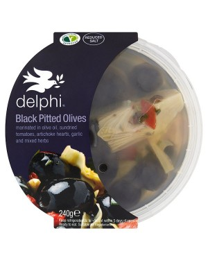 M3 Distribution Services Delphi Black Pitted Kalamatta Olives with Herbs