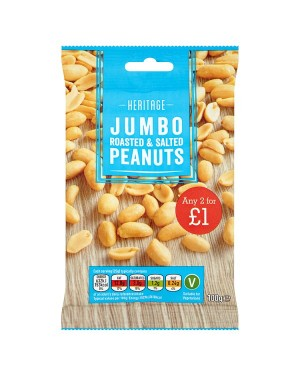 M3 Distribution Irish Wholesale Food Distributor Heritage Jumbo Salted Peanuts PM2forÃ'Ãâ€Ãâ€