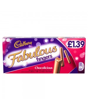 M3 Distribution Services Irish Food Wholesaler Cadbury Fabulous Fingers 110g PMÃÆÃ