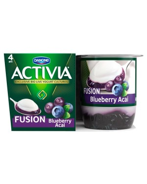 M3 Distribution Services Irish Food Wholesaler Danone Activia Fusions Blueberry & Acai (6x4x125g)