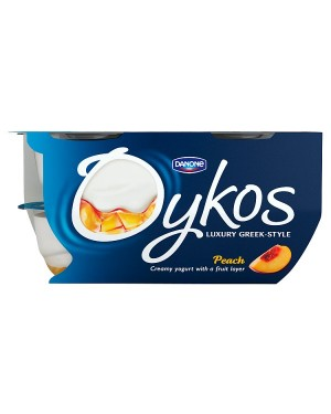 M3 Distribution Services Irish Food Wholesaler Danone Oykos Peach (4x4x110g)