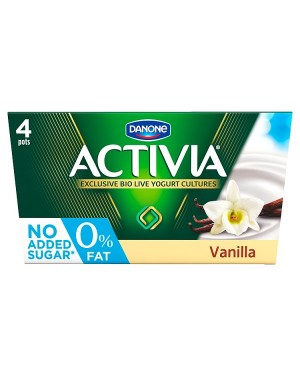 M3 Distribution Services Irish Food Wholesaler Danone Activia 0% Vanilla (6x4x125g)