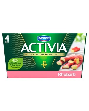 M3 Distribution Services Irish Food Wholesaler Danone Activia Rhubarb (6x4x125g)