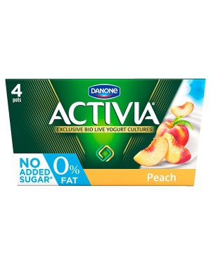 M3 Distribution Services Irish Food Wholesaler Activia 0% Peach (6x4x125g)