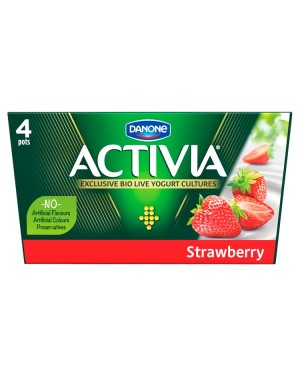 M3 Distribution Services Irish Food Wholesaler Danone Activia Strawberry (6x4x125g)