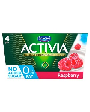 M3 Distribution Services Irish Food Wholesaler Danone Activia 0% Raspberry (6x4x125g)