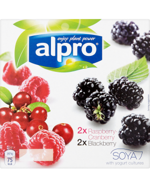 M3 Distribution Services Alpro Soya Yogurt Raspberry & Blackberry - 4pack