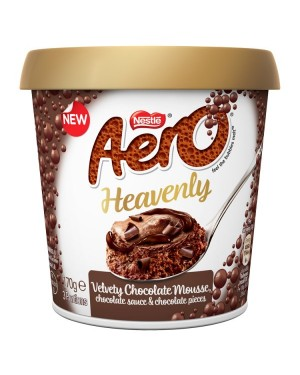 M3 Distribution Services Irish Food Wholesaler Aero Heavenly Milk Chocolate Mousse (4x170g)