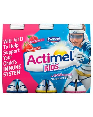 M3 Distribution Services Irish Food Wholesaler Danone Actimel Kids Strawberry & Raspberry (3x6x100g)