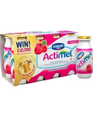 M3 Distribution Services Irish Food Wholesaler Danone Actimel Raspberry (3x8x100g)