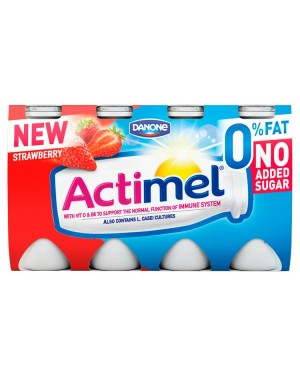 M3 Distribution Services Irish Food Wholesaler Danone Actimel Strawberry 0.1% Fat (3x8x100g)