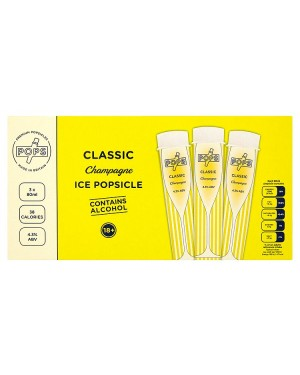 M3 Distribution Services Irish Food Wholesale Pops Classic Champagne Ice Popsicles 3pack