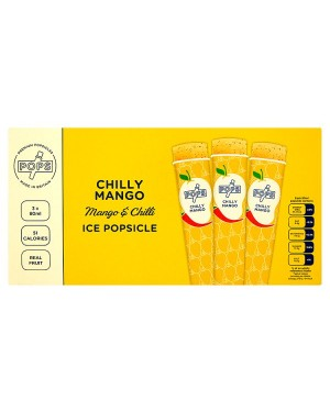 M3 Distribution Services Irish Food Wholesale Pops Mango & Chilli Ice Popsicles 3pack