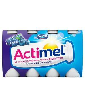 M3 Distribution Services Irish Food Wholesaler Danone Actimel Blueberry (3x8x100g)