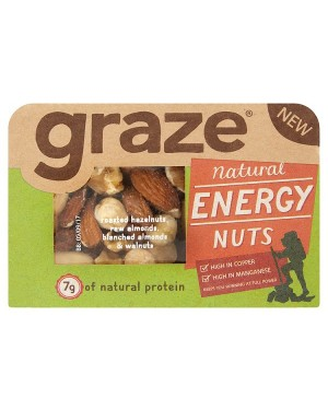 M3 Distribution Irish Wholesale Food Distributor Graze Natural Energy Nuts 53g