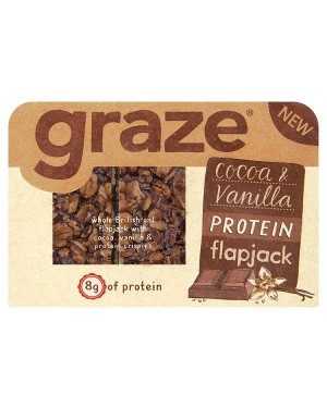 M3 Distribution Irish Wholesale Food Distributor Graze Cocoa & Vanilla Protein Flapjack 54g