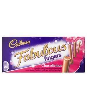 M3 Distribution Services Irish Food Wholesaler Cadbury Fabulous Fingers 110g