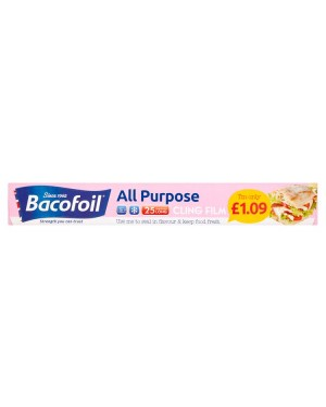 Bacofoil Clingfilm PM£1.09 (6x25 MTR)