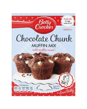 M3 Distribution Services Bulk Irish Wholesale Betty Crocker Chocolate Chunk Muffin Mix 335g