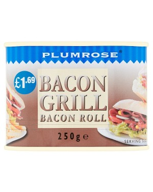 M3 Distribution Services Irish Food Wholesaler Plumrose Bacon Grill Roll PM£1.69 (6x250g)
