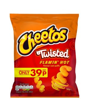 M3 Distribution Irish Wholesale Food Distributor Cheetos Twisted Flamin' Hot PM39p
