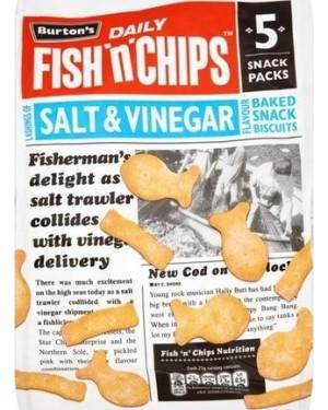 M3 Distribution Irish Wholesale Food Distributor Burton's Fish 'n' Chips Salt & Vinegar 5pack