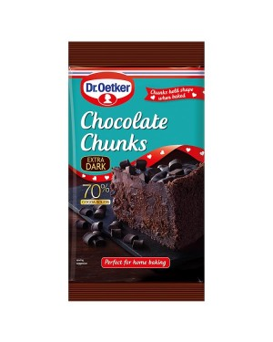 M3 Distribution Services Bulk Irish Wholesale Dr.Oetker Extra Dark Chocolate Chunks 100g