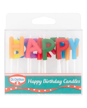 M3 Distribution Services Bulk Irish Wholesale Dr.Oetker 'Happy Birthday' Candles