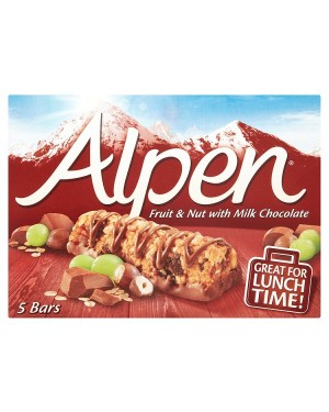 M3 Distribution Services Irish Food Wholesaler Alpen Fruit, Nut & Chocolate Cereal Bars 5pack