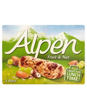 M3 Distribution Services Irish Food Wholesaler Alpen Fruit & Nut Cereal Bars 5pack