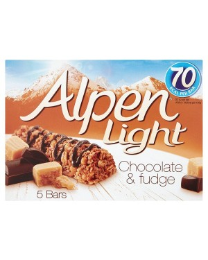 M3 Distribution Services Irish Food Wholesaler Alpen Light Chocolate & Fudge Cereal Bars 5pack