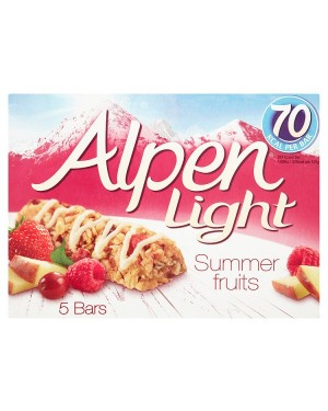 M3 Distribution Services Irish Food Wholesaler Alpen Light Summer Fruits Cereal Bars 5pack