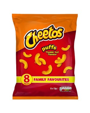 M3 Distribution Irish Wholesale Food Distributor Cheetos Puffs Flamin' Hot 8pack