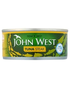M3 Distribution Bulk Irish Wholesale Food John West Tuna Steak in Oil 160g