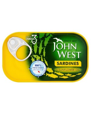 M3 Distribution Bulk Irish Wholesale Food John West Sardines in Oil 120g