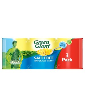 M3 Distribution Services Bulk Food Ireland Green Giant Salt Free Sweetcorn 198g 3pack