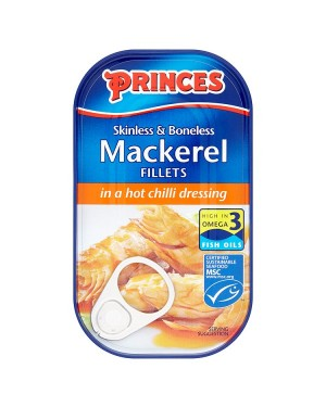 M3 Distribution Bulk Irish Wholesale Food Princes Mackerel in Hot Chilli 125g