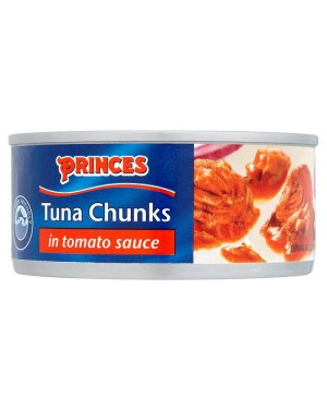 M3 Distribution Bulk Irish Wholesale Food Princes Tuna Chunks in Tomato Sauce 160g