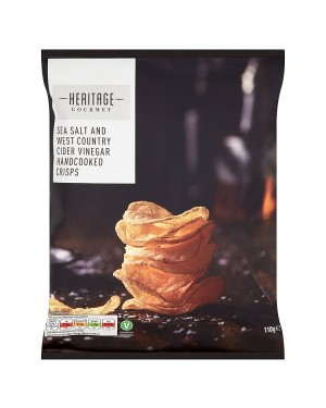 M3 Distribution Irish Wholesale Food Distributor Heritage Gourmet Sea Salt & Vinegar Crisps 110g