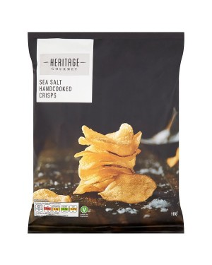 M3 Distribution Irish Wholesale Food Distributor Heritage Gourmet Sea Salt Crisps 110g