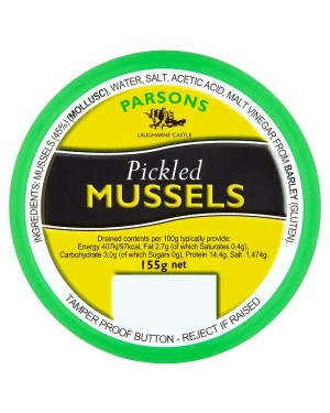 M3 Distribution Bulk Irish Wholesale Food Parsons Pickled Mussels 155g
