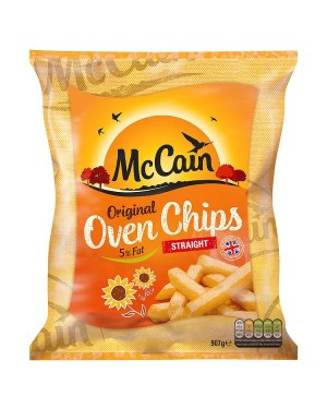 M3 Distribution Services Irish Food Wholesaler McCain Oven Chips 5.5% Fat (15x907g)