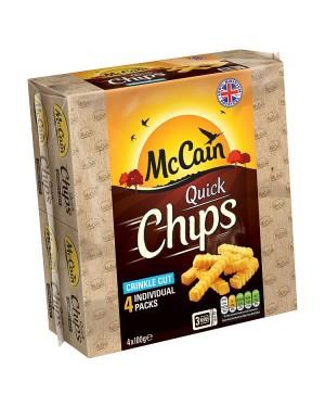 M3 Distribution Services Irish Food Wholesaler McCain Quick Chips Crinkle Cut GF (12x4x100g)