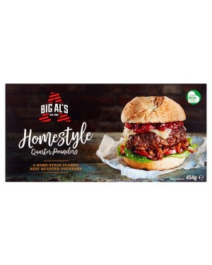M3 Distribution Services Irish Food Wholesaler Big Als Homestyle Quarter Pounders (12x4pack)