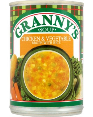 M3 Distribution Services Irish Food Wholesaler Granny's Chicken and Vegetable Broth with Rice (12x400g)