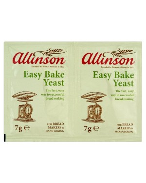 M3 Distribution Services Bulk Irish Wholesale Allinson Easy Bake Yeast 2x7g Satchets