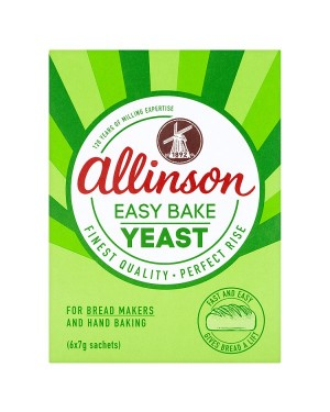M3 Distribution Services Bulk Irish Wholesale Allinson Easy Bake Yeast 6x7g Satchets
