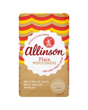 M3 Distribution Services Bulk Irish Wholesale Allinson Plain Wholemeal Flour 1Kg