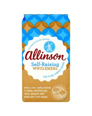 M3 Distribution Services Bulk Irish Wholesale Allinson Self-Raising Wholemeal Flour 1Kg