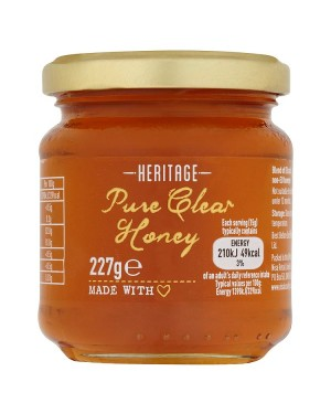 M3 Distribution Bulk Irish Wholesale Heritage Pure Clear Honey 227g